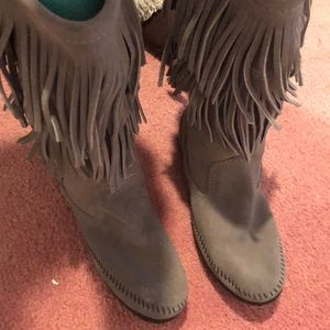 Grey Indian style boots